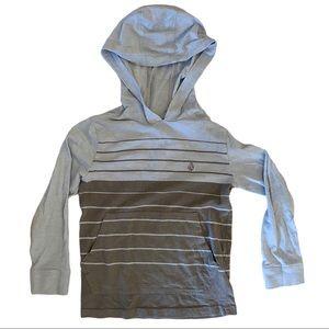 EUC Volcom Blue Gray Pullover Size 4